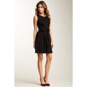 Trina Turk Waldron Black Bow A-Line Pleated Dress